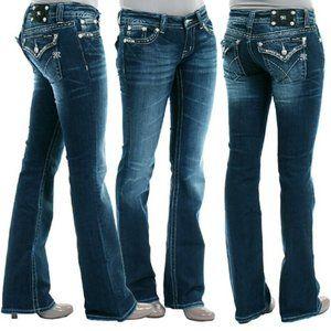 Miss Me Bootcut Jeans Medium Wash Style #JW5180B7